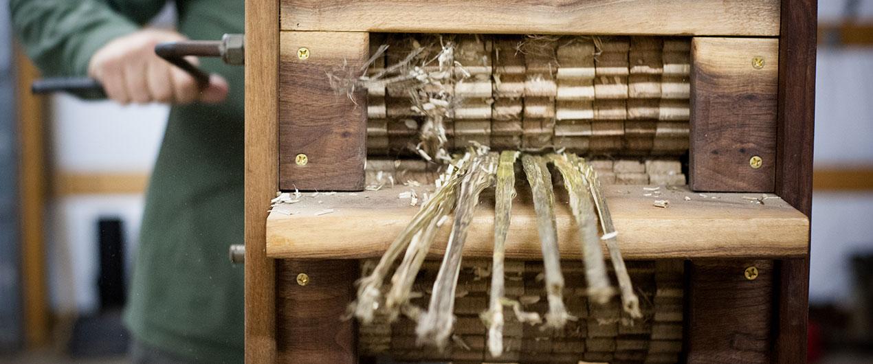 hemp decortication, photo by Meg Wilson Photography