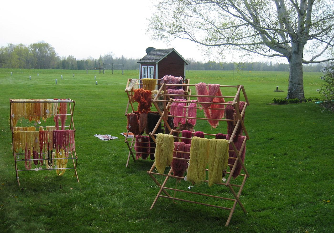 yarns at Dairyland Fibershed